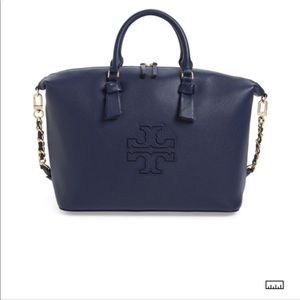 Tory Burch Harper Royal Navy slouchy satchel